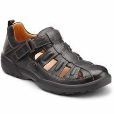 """Dr. Comfort Diabetic approved casual shoes and sandals: """"Betty"""" featured in Black. Great for #diabetics! Added comfort and accomodation"""