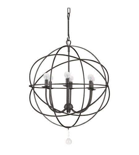 Crystorama 9226-EB Solaris 6 Light 23 inch English Bronze Chandelier Ceiling Light in English Bronze (EB) photo