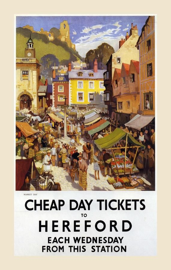 Hereford Framed Vintage Railway Poster On Canvas Etsy In 2020 Railway Posters Posters Uk Vintage Travel Posters