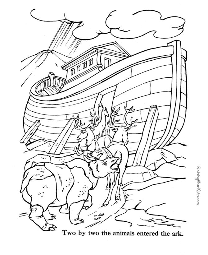 black and white bible coloring pages | Free Bible coloring pages to print Noah | Sunday School ...