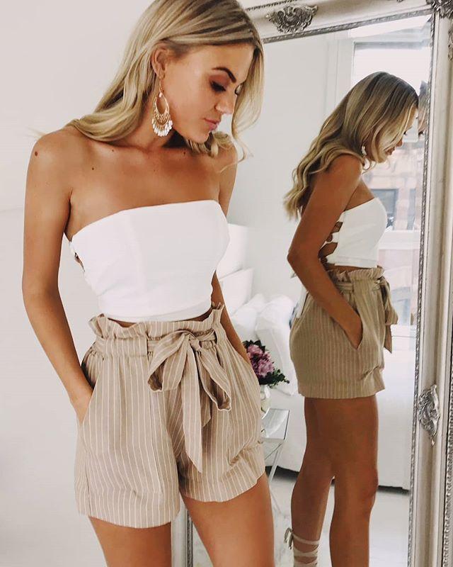 38 Zauberhafte Outfit-Ideen mit Short Perfect für den Sommer