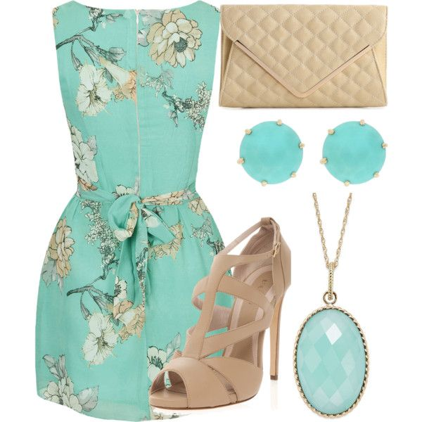 Gorgeous.  Clear blue for a true Light Spring and perfect neutral shoes/clutch.
