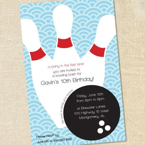 25 best Bowling Birthday images on Pinterest Anna, Party time - bowling invitation template
