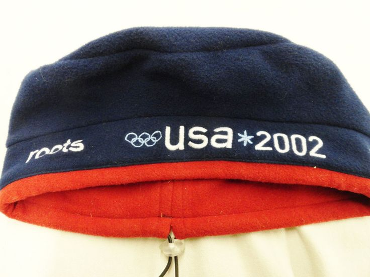 2002 USA Olympics Beret Hat Roots One Size Salt Lake City #Roots #USA