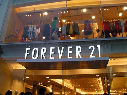 Forever 21 is my dream work place after graduating from FIDM. I would love to help design clothes for this store. It has a wide variety of styles and it's my favorite place to shop!