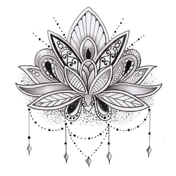 Les 25 meilleures id es de la cat gorie tatouages mandala sur pinterest tatouage de lotus - Mandala tatouage femme ...
