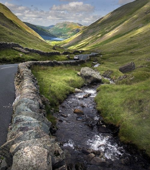 Kirkstone Pass, Ambleside, Cumbria, England.     Lake District National Park  At the head of Windermere, England's largest lake.   The Roman fort of Galava, AD 79, is just south of the town