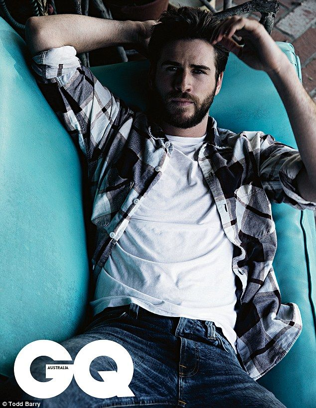 No wonder Miley likes him! Liam Hemsworth looked handsome as ever as he modelled for GQ magazine this month