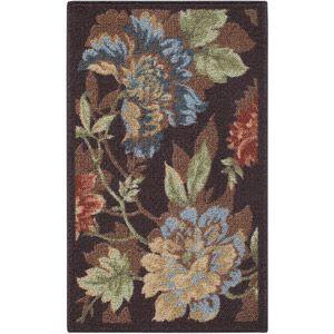 Mainstays Floral Printed Nylon Rug, Multi-Color