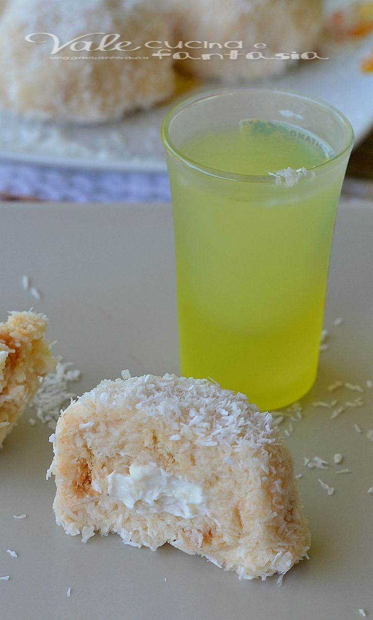 Cookies without baking coconut and limoncello