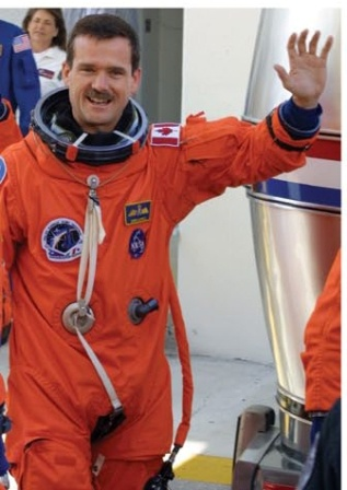 Astronaut Chris Hadfield occupies space