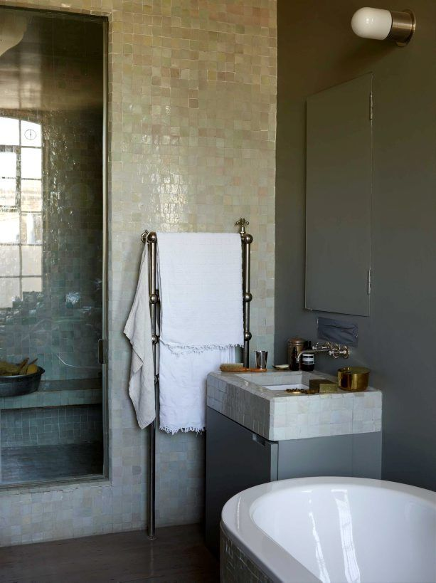 love the tiles and towels would put up a mirror though tile bathroomsbathroom designsbathroom