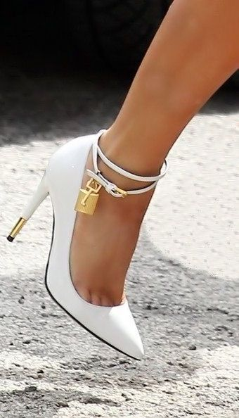 Tom Ford Padlock Heels ?  These are just   stunning...I think I'd sleep in them :)