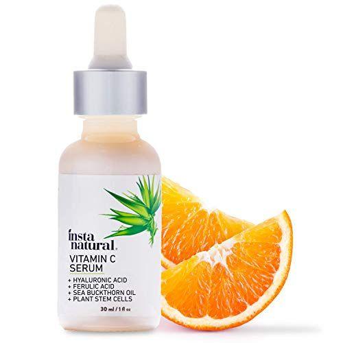 InstaNatural Vitamin C Serum with Hyaluronic Acid & Vit E – Natural & Organic Anti Wrinkle Reducer Formula for Face – Dark Circle, Fine Line & Sun