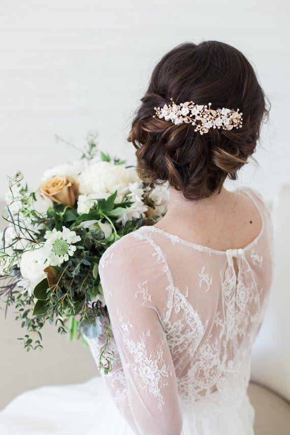 c47a6b9be7d61 Wedding Hair Accessories Bridal Headpiece Gold Flower