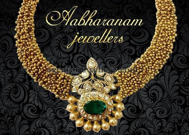 Jewellery Designs: Classic Necklace by Abharanam Jewellers
