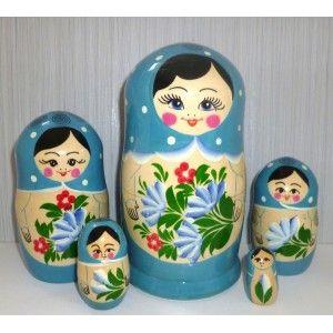 Posad large Blue scarf #Babushka #russiandoll #matryoshka #dollsindolls #decor #traditional