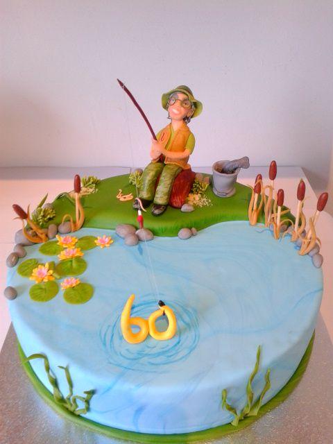 Geburtstag-Erwachsene » Angler Torte angeln fischen