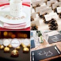 De 10 leukste manieren om tafelschikking aan te geven voor het kerstdiner