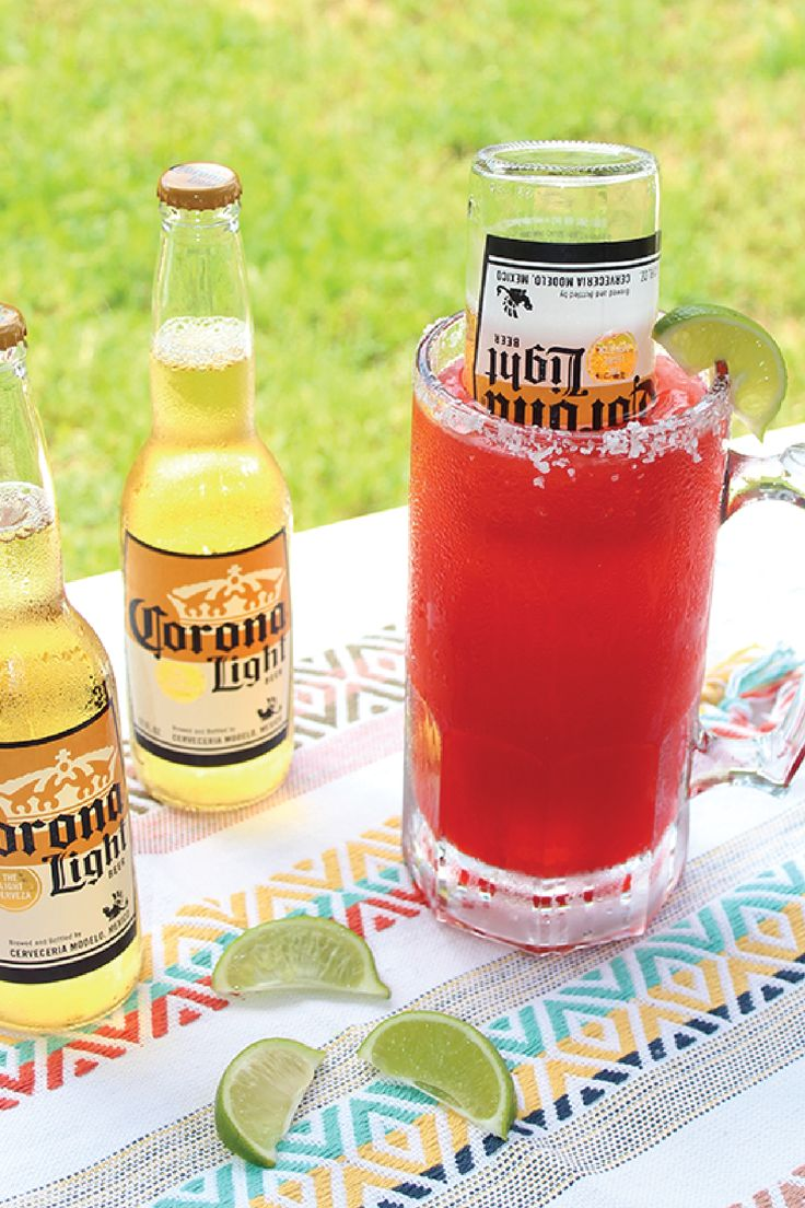 Kick off summer in the most delicious way—with this recipe for a Watermelon Beer-Rita! Using just fresh fruit, lime juice, tequila, and Corona, this fun cocktail is surprisingly easy to make. Just don't forget the rim of salt!