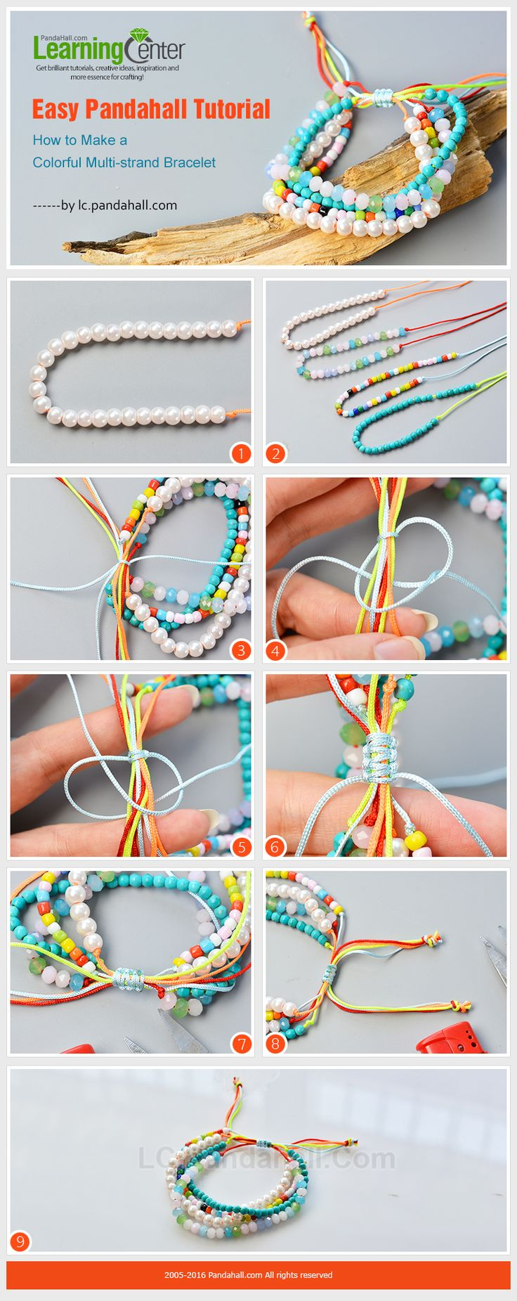See more details about this multi strands seed beads bracelet from LC.Pandahall.com