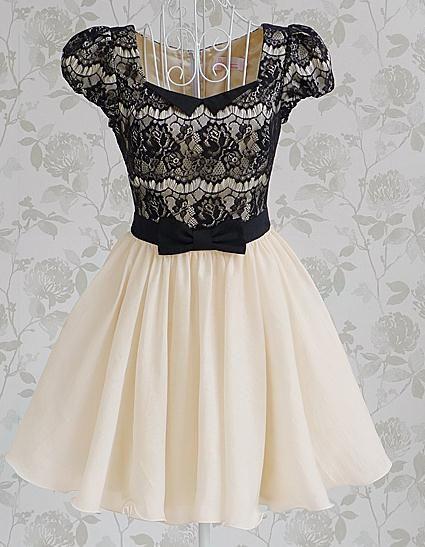 Diamond Bow Lace Dress BADG