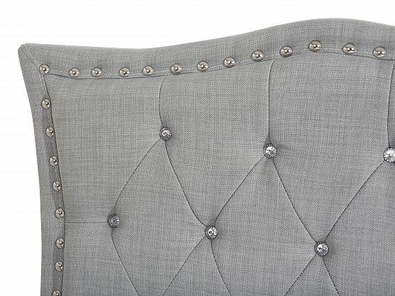 Säng grå - dubbelsäng - stoppad säng med ribbotten - 160x200 - METZ ✓ Försäljning utan mellanhänder - 365 dagars ångerrätt garanti
