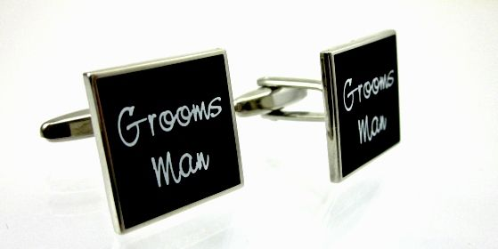 Mens Wedding Cufflinks - Groomsman. Find it at www.giftedmemoriesjewellery.com.au