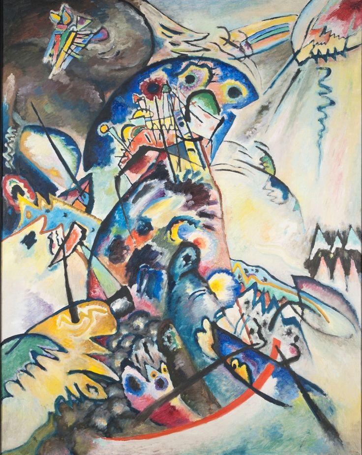 Vasily Kandinsky, Cresta blu, 1917. Olio su tela, 133 x 104 cm. Museo di Stato Russo, San Pietroburgo. Foto(c) 2016, Museo di Stato Russo, San Pietroburgo. Courtesy Royal Academy of Arts, Londra