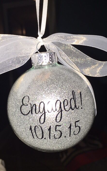 Gifts for newly engaged couple. Engagement gift ideas. Engagement ornament.