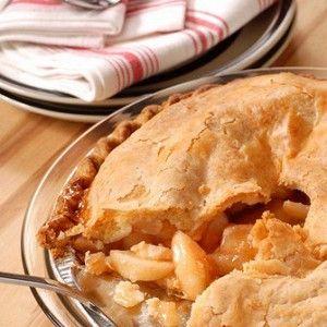 Французский яблочный пирог с карамелью