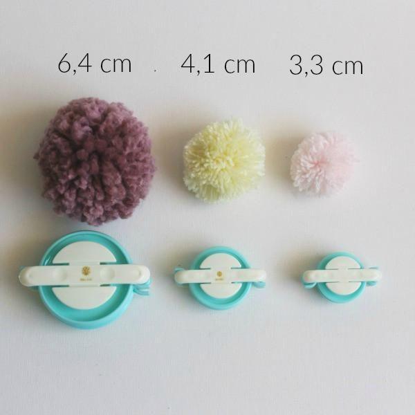 Juego de herramientas para hacer pompones de 4 tama/ños con tijeras peque/ñas Pom Pom Makers forma f/ácil de hacer pompones