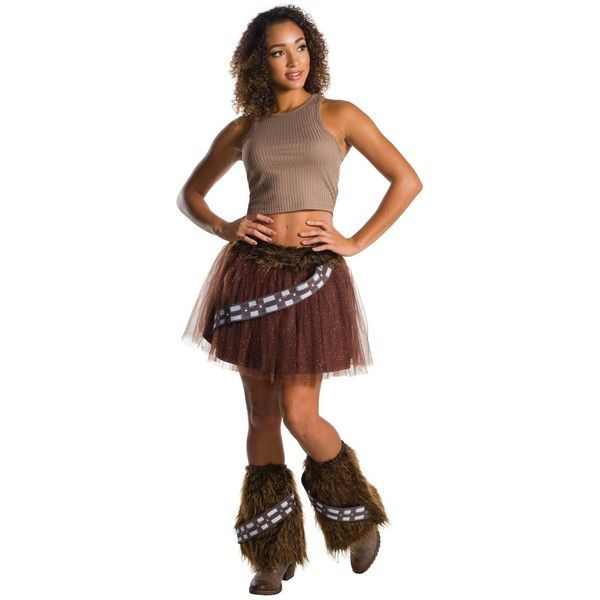 Star Wars Chewbacca Adult Tutu ($20) ❤ liked on Polyvore featuring costumes, halloween costumes, adult ladies halloween costumes, star wars halloween costumes, ladies star wars costumes, star wars costumes and lady halloween costumes