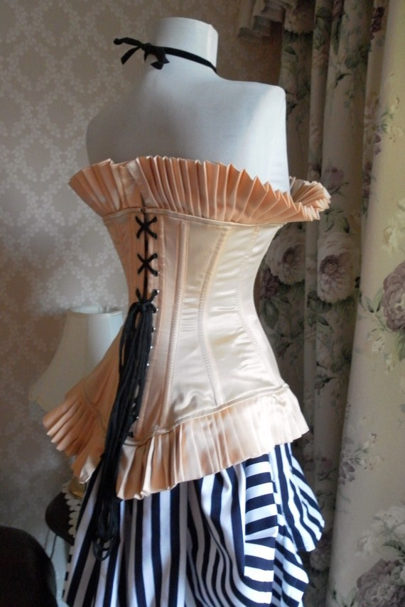 Parisienne frill corsetsteel boned burlesque by AliceAndWillow, $169.00