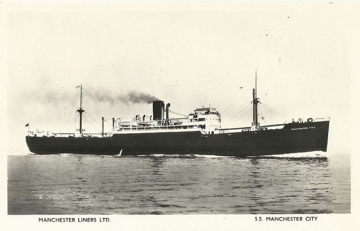 Vintage B&W collectible 3.5  x 5.5  POSTCARD S.S. Manchester City Ship Liners | eBay