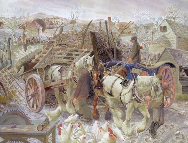 'A Cotswold Farm', Gilbert Spencer, 1930-1   Tate