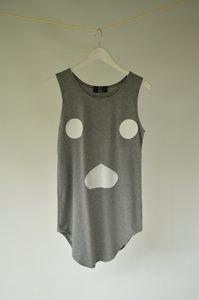 Banana box ghost face printed sleeveless top