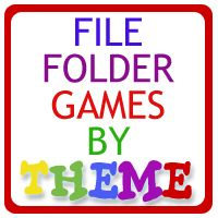 """Preschool-ish File Folder Games  Thinking about making a """"busy book"""" binder with some of these in it to take to restaurants, on car trips, etc. for Jillian....hmmmm....."""