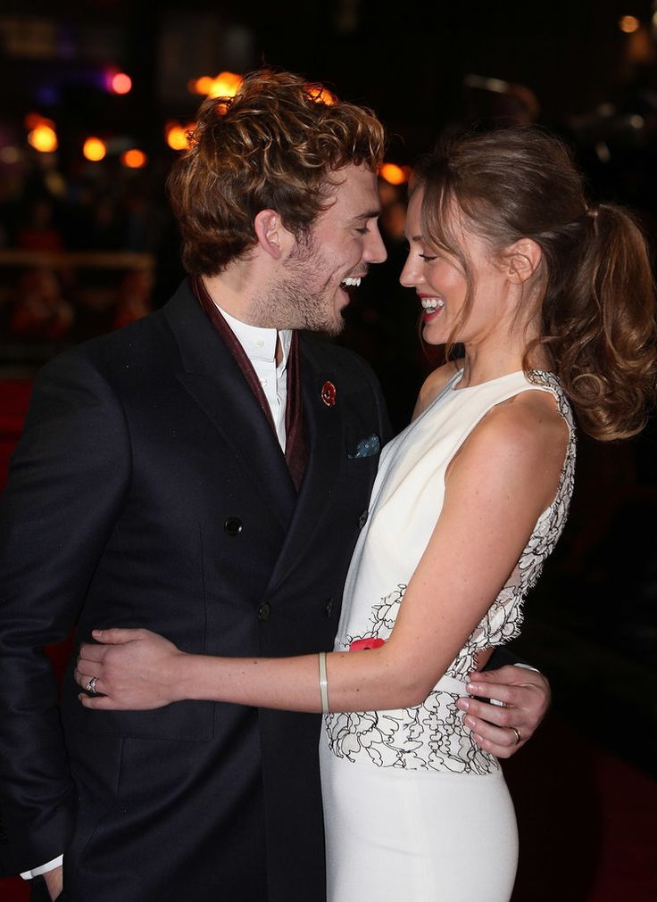 Sam Claflin and Laura Haddock Cute Pictures | POPSUGAR Celebrity