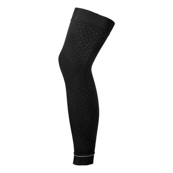 New Shebeest Envy Leg Warmers Women/'s Large Black Embossed Dots