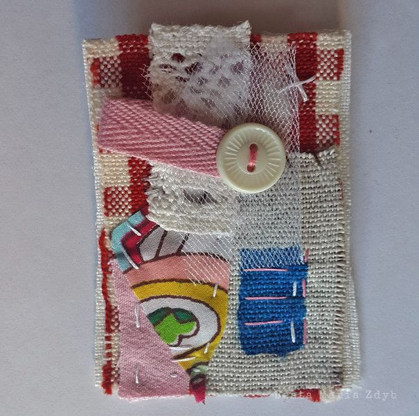 Fabric Brooch – a unique product by Beata-Maria-Zdyb on DaWanda