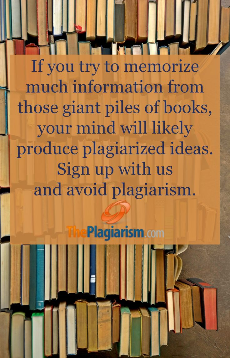 If you try to memorize much information from those giant piles of books, your mind will likely produce plagiarized ideas. We'll help you to avoid plagiarism. By signing up, you'll grasp the benefits of our plagiarism checker. #books #plagiarism #writing #college