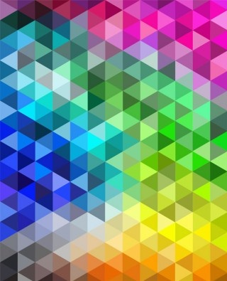 the repetitive triangles look cool and how the colours change from one shade to another into a different colour is cool