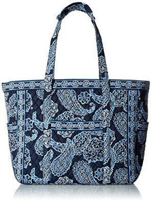 Amazon.com: Vera Bradley Get Carried Away Travel Tote, Blue Bandana, One Size: Shoes