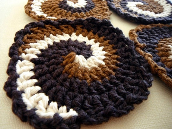 Crochet Coaster PDF Pattern Swirling Coasters By Smoochpanda 350