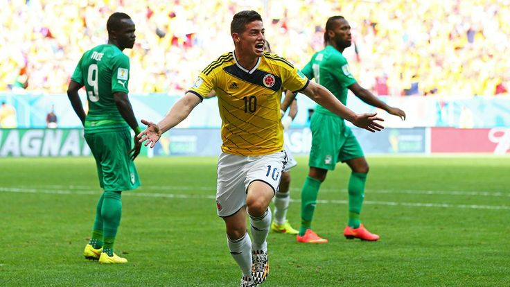 James Rodriguez (COL) - 1st Goal - Colombia vs Cote D'Ivoire 2-1 - Group C 19 June 2014