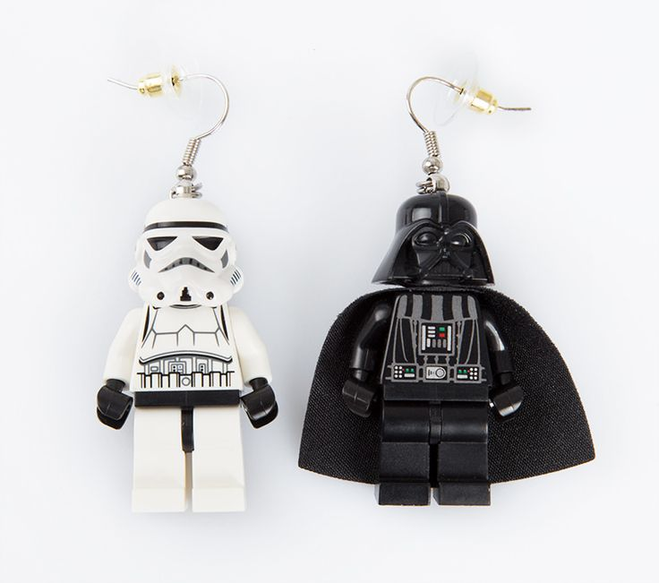 Star Wars Earring by Imagine indonesia. Unique earrings that make from Lego, join the dark side with this Darth Vader and the elite soldiers of the Galactic Empire, Stormtrooper. http://www.zocko.com/z/JKFeU