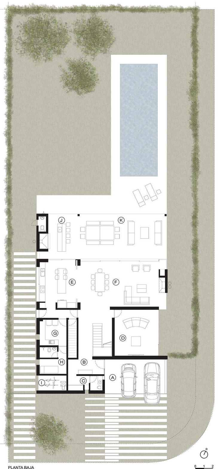 Image 23 of 28 from gallery of A House / Estudio GMARQ. Ground Floor Plan