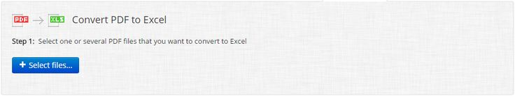 PDF to Excel Converter ONLINE: Easily convert PDF to XLS!