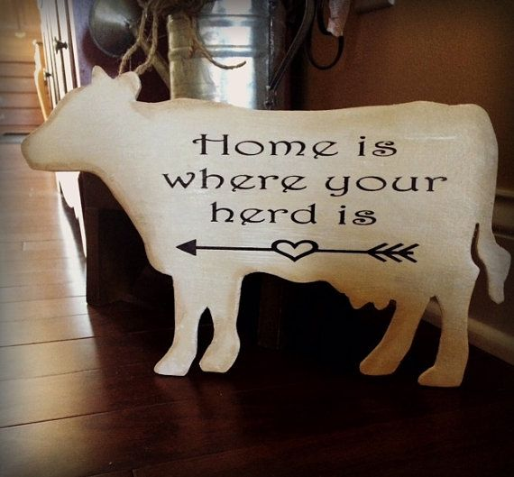 COW SIGN Farmhouse Decor Kitchen Decor by HappyDaisiesDesigns